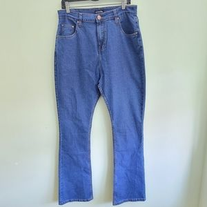 PRETTYLITTLETHINGS Flare high rise jeans size 16